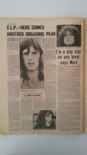 ELP / T REX 1970 UK ARTICLE / clipping