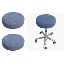 2pc Bar Stool Covers Round Chair Seat Cushion Protector 10 - 16inch Dia