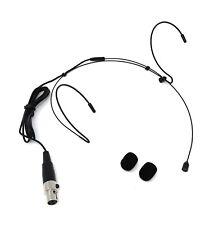 Black Headset Microphone for AKG Samson Wireless Mic System w/ mini XLR 3 pin