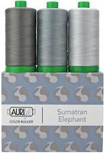 Aurifil 40WT Colour Builders Sumatran Elephant Grey x 3 Spools 1000 metres