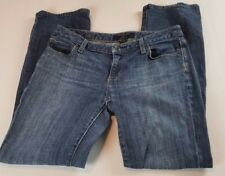 Banana Republic Womens Jeans Sz 27 4 Short Low Rise Destroyed Distressed Denim