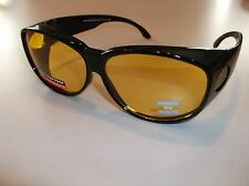 Blue Blocker LG SIZE Bedtime or Driving sunglasses- Use over RX glasses W01-ND
