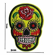 Candy Skull Iron Sew Embroidered Patch Badge Patches Logo Fancy Badges #308