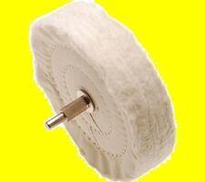 POLIERSCHEIBE DORN POLIEREN LACK KUPFER MESSING ALU 120x22 Polishing Disc Cotton