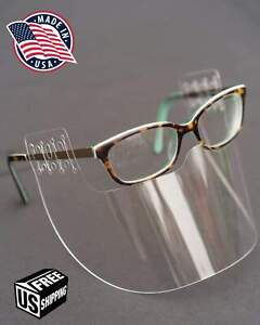 InvisiSHIELD (2 PACK) Face Shield Glasses Protection Cover Face Mask Clear USA
