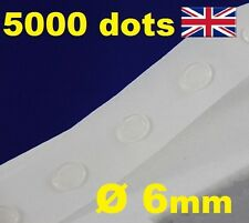 5000 Glue Dots Sticky Craft Clear Card Making Scrap Removable 6mm EASY LOW TACK