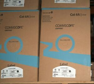 1000' Cat6A COMMSCOPE 10G CMR CABLE GRAY CS44R C6A 4/23 U/UTP CP  UN884019314/10