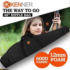 """KENNER Rifle Gun Bag Shotgun Case Thick Padded 48"""" Tactical Hunting Shooting"""