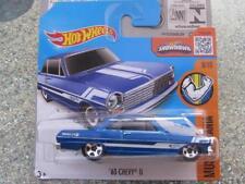 HOT WHEELS 2016 # 128/250 1963 Chevy II Azul Muscle Mania Funda NUEVO FUNDICIÓN