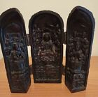 A Vintage Resin Chinese Portable Folding Tryptic Buddhist Shrine