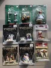 Lot Of 9 Christmas Village PolyResin Figures Lemax Trim A Home Victorian Village