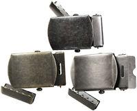 """Vintage Military Metal Web Belt Buckle and Belt Tip Fits 1.25"""" Webbing Belt"""