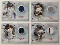 2020 Topps Holiday Relic Lot Voit Riley Tellez Webb RC Braves Yankees Giants