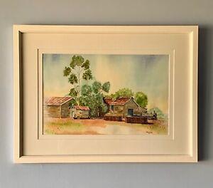 "Original Framed  Watercolour ""The Old Jardee Mill"" Manjimup, Western Australia."