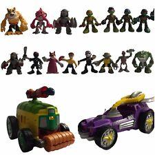 Playskool Half Shell Heroes Ninja Turtles Lot 15  Figures Shellraiser Van TMNT