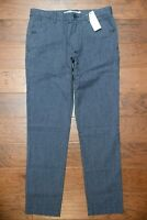 Lacoste $175 Men's Slim Fit Navy Blue/White Cotton Casual Dress Pants 40 EU 50