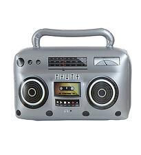 Gonflable Boom Box Radio Cassette Player Années 80 Rétro Accessoire Fantaisie