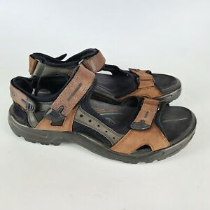ECCO Sport Yucatan Receptor Men's Brown Leather Trail Hiking Sandals 45 / 12