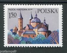 POLOGNE 1977, timbre 2363, MONUMENTS, ARCHITECTURE, CATHEDRALE PLOCK, neuf**