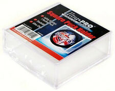 2 SQUARE HOCKEY PUCK ULTRA CLEAR DISPLAY CASE HOLDER ULTRA PRO REGULATION SIZE