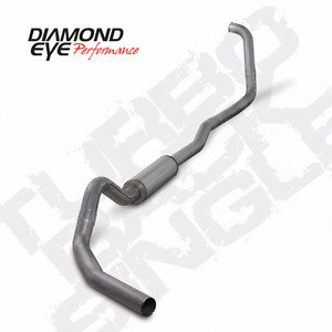 03-07 Ford Powerstroke Diesel DIAMOND EYE Exhaust Kit 4in TURBO BACK STAINLESS