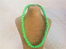 "18"" Neon Green Puka Shell Necklace Choker - Hand Made - US SELLER"