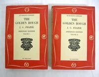 The Golden Bough by James Frazier Abridged 2 Books Saint Martin's Library 1957