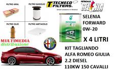 KIT TAGLIANDO FILTRI E OLIO ORIGINALE 0W-20 ALFA ROMEO GIULIA 2.2 JTDM 150CV
