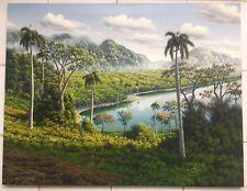 Ismael Alvarez Abreu, Original Lanscape Canvas Oil Painting 2016, Cuban Art