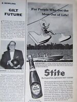 1957 STITE Beer Gyro-Boating  Original Print Ad 8.5 x 11 ""