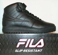 Mens Fila Vulc 13 Mid Slip Resistant Non Slip Skid Work Shoes Black 1LM00350-001