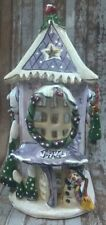 Clayworks Blue Sky Frosty's Place Christmas House Tea Light Heather Goldminc