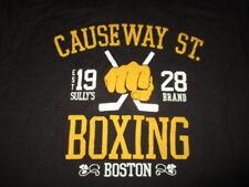 "BOSTON BRUINS ""Causeway St 1928 BOXING"" (LG) T-Shirt FIGHTING Hockey Sticks"