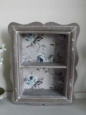 Shodow Box With Single Shelf and Floral Pattern. Wall Mounted Shelf