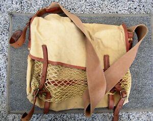 Vintage Quality Gunslips Shooting / Fishing Canvas & Leather Shoulder Bag