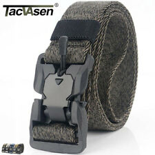 TACVASEN Military Tactical Belt Men's Magnetic Auto Buckle Nylon Belts Waistband