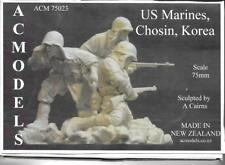 Modelos de AC Usmc Marines Chosin Corea 3 figuras 75mm Kit Sin Pintar Resina