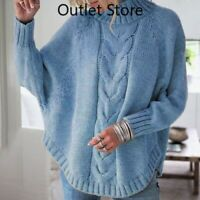 Women's Winter New Style Large Loose Bat Sleeve Ladies Knitted Sweater