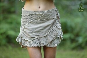 Cotton Tribal Mini Skirt, Oka Skirt, Wrap Gypsy Festival Hippie Boho Goa