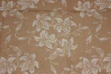 "Antique French Cotton Tan Floral Mattress Ticking Fabric c1918-1930~56""L X 44""W"