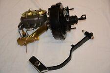 "1967-70 Ford Mustang 9"" Power Brake Booster Master Cylinder Disc Drum Pedal Kit"