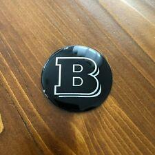 "New - Mercedes-Benz™ M-B BRABUS B Logo Black Steering Wheel Emblem Badge 2"" 52mm"