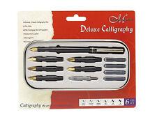 Manuscript Classic Deluxe 6 Nib Calligraphy Pen Writing Set - NEW