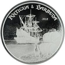 2018 Antigua & Barbuda 1 oz .999 Silver $2 Rum Runner Pirate ship Treasure