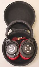 Audio-Technica ATH-M40x Over the Ear Headphones - Black/Red Tested