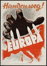 "12"" x 18""  WW2 Vintage Metal Sign: Handen Weg! Anti Communist Propaganda Poster"