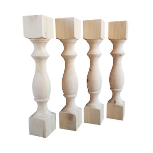 """29"""" Unfinished Dining Table Legs, Knotty PINE, Set of 4"""