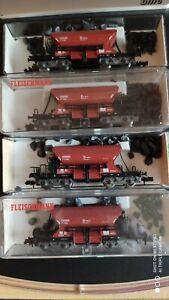 Fleischmann 4 tlg. Selbstentlade-Schotterwagen 8525 in OVP