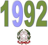 ITALIA Repubblica 1992 Singolo Annata Completa integri MNH ** Tutte le emissioni