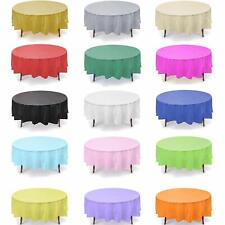 Prime 12-pc Plastic Reusable Heavy Duty Table Cover Choose your Size and Color